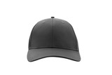 Baseball cap black templates, front views isolated on white background - 180778036