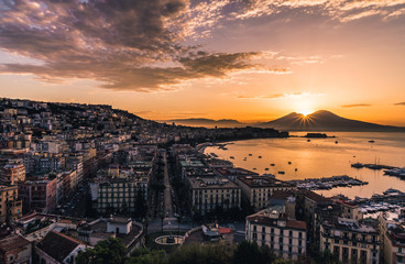 Beautiful Sunrise in Naples, Italy