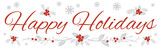 Happy Holidays Wide Banner on White Background 1 - 180785687