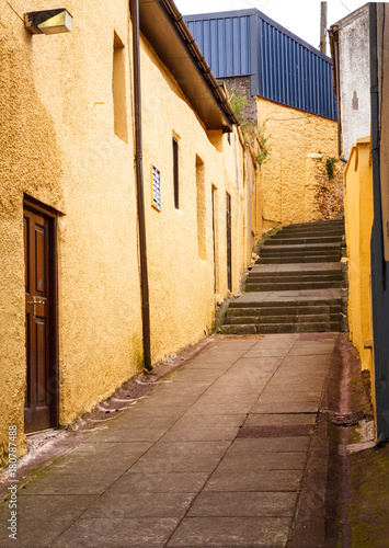 Tuinposter Smal steegje Alleyway Staircase in Ireland