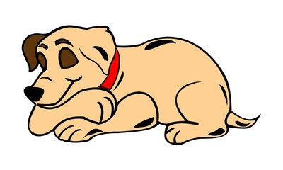 vector images of sleeping dogs