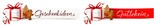 Geschenkidee, Gutschein - Banner Set mit Geschenkpaket und Lebkuchen  - 180802802