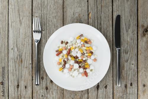 Fotobehang Apotheek Drugs (prepared as meal)