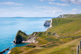 Durdle Door, Dorset in UK, Jurassic Coast World Heritage Site - 180808244