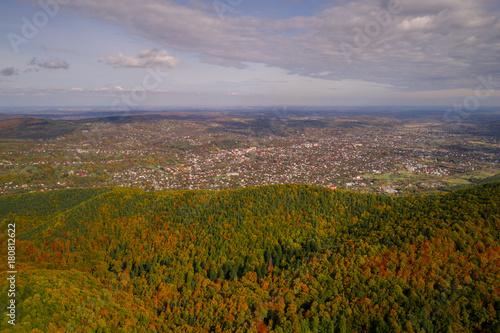 Fotobehang Donkergrijs Autumn in Carpathian mountains
