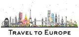Famous Landmarks in Europe. - 180814856