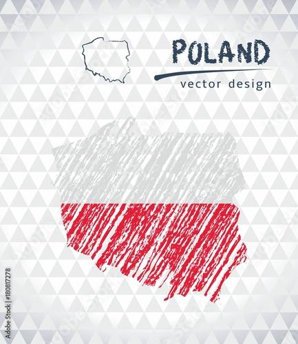 polska-mapa-wektorowa-z-flaga-wewnatrz-na-bialym-tle-na-bialym-tle-szkic-kreda-recznie-rysowane-ilustracji