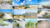 Collage: Nordsee, Strand auf Langenoog: Dünen, Meer, Entspannung, Ruhe, Erholung, Ferien, Urlaub, Meditation :)  - 180818847