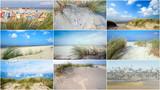 Collage: Nordsee, Strand auf Langenoog: Dünen, Meer, Entspannung, Ruhe, Erholung, Ferien, Urlaub, Meditation :)  - 180819044