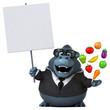 Fun gorilla - 3D Illustration - 180820694