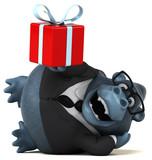 Fun gorilla - 3D Illustration - 180820650