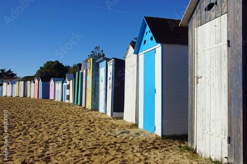 Wall mural cabines de plage