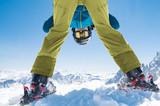 Skier man enjoy winter snow - 180837241