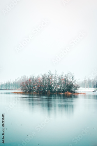 Foto op Canvas Wit River on a cold morning