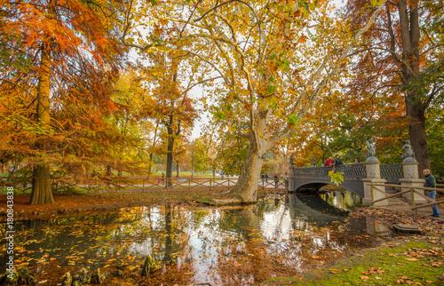 Papiers peints Milan MILAN, ITALY, NOVEMBER 11, 2017 - Autumn in Sempione Park in Milan, Italy.