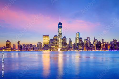 Staande foto Ochtendgloren Manhattan Skyline