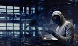 Computer privacy attack. Mixed media - 180860231
