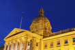 Alberta Legislative Building at night