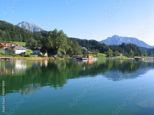 Plexiglas Groen blauw Edlbach - Austria