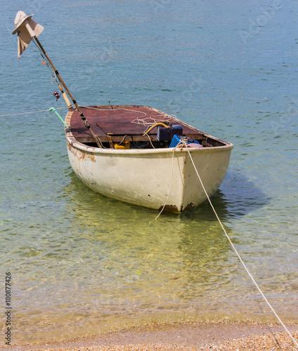 Fotobehang Schip Little boat floating