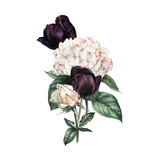 Bouquet of flowers,  can be used as greeting card, invitation card for wedding, birthday and other holiday and  summer background - 180877847