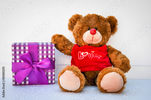 Valentines Day. Teddy Bear Loving cute