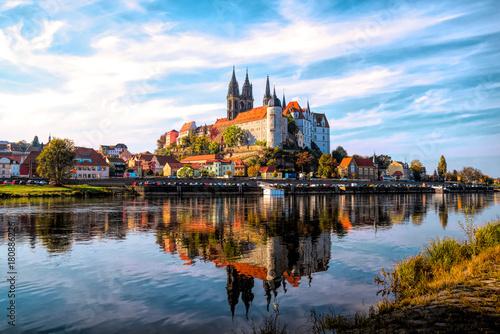 Leinwanddruck Bild Albrechtsburg in Meißen, Sachen