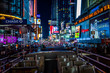 A Bus View of Times Square