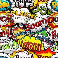 Comics speech bubbles seamless pattern. Illustration