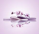 spa de piedras flor y agua