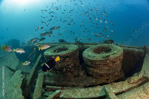 Papiers peints Naufrage tires Ship Wreck in bali indonesia indian ocean
