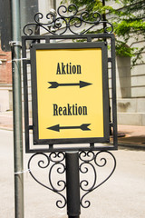 Schild 283 - Aktion