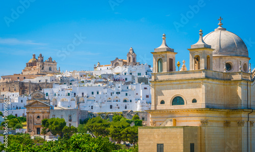 Panoramic view of Ostuni, Apulia, southern Italy