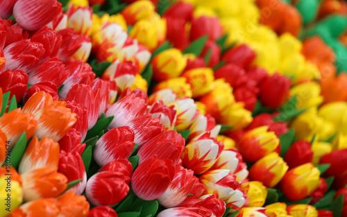 Fototapeta tulips on sale in the flower market in Amsterdam in the Netherla