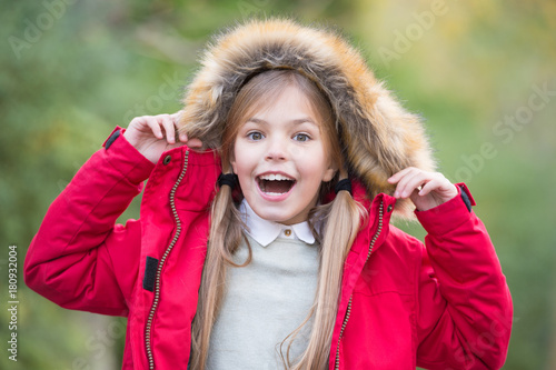 Girl smile on natural landscape