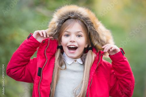 Plakat Girl smile on natural landscape