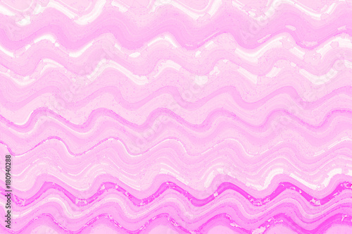Tuinposter Abstract wave Pink wave watercolor paint digital art background