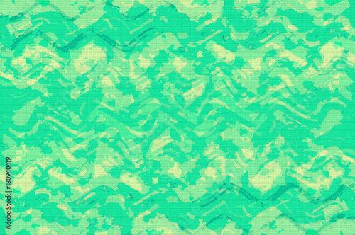 In de dag Abstract wave grunge blue and green digital art abstract background