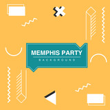 Party background in memphis style - 180946693