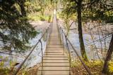 Wooden bridge above the river