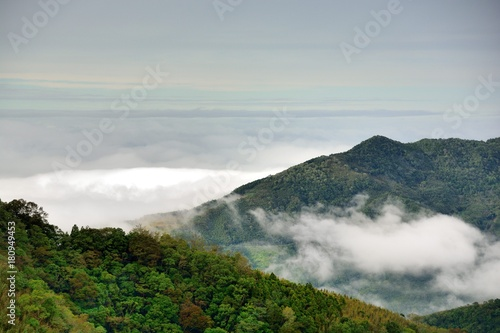 Fotobehang Bleke violet Mountains and clouds in the Hsinchu,Taiwan.