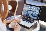 medical consultation online, doctor advice on internet - 180952636