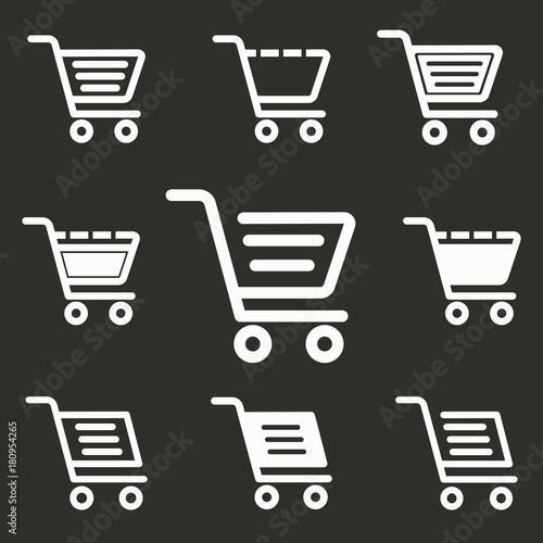 Shopping basket - vector icon.