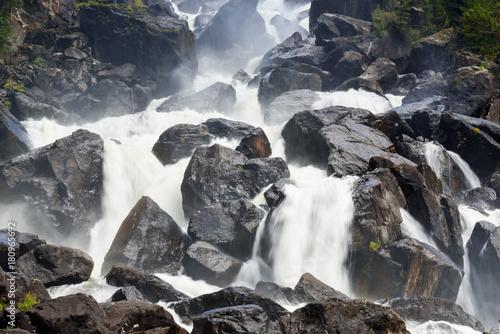 Waterfall Uchar. Altai Republic. Russia - 180965692