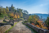 historical Tsarevets fortress in Bulgaria - 180978420
