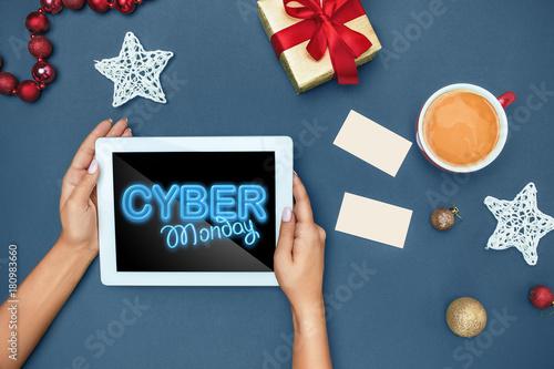 Cyber monday sale concept