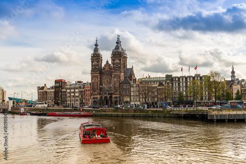 Papiers peints Amsterdam Saint-Nicolas à Amsterdam, Hollande, Pays-Bas