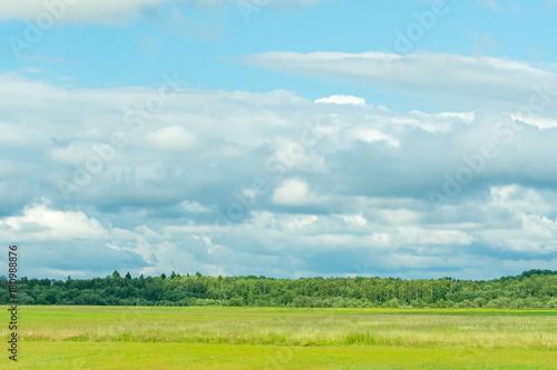 Fotobehang Lente countryside rural scenery