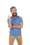 Smiling beard man - 180990235