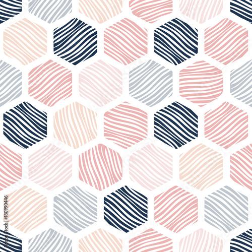 Honeycomb seamless pattern. - 180990446